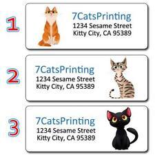 30 Cat Return Address Labels Personalized Printing Custom Made