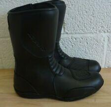RK Sports Black Leather Sport Bike Boots UK10/EUR44 - Hardly Worn (Hospiscare)
