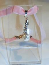 rosa Samt Halsband - Mermaid mit Perlen cg1014