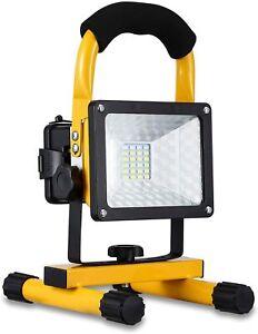 Projecteur LED Rechargeable Lampe de Travail Chantier 30W