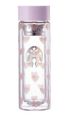 2017 Korea Starbucks Valentine Heart Glass Tea Bottle 300ml_ Cold drinks only