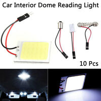 10X 48SMD 12V Car LED White Interior Decor Light Kit for Doom Reading Boot Lamp