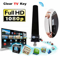 Mini Clear TV Key HDTV 100+ FREE HD TV Digital Indoor Antenna 1080p Ditch Cables