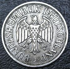 1954 J GERMANY - 1 DEUTSCHE MARK - COPPER-NICKEL - German Eagle - Nice