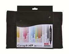 Graph It Marker Pen Set - 24 Colour Wallet - Basic