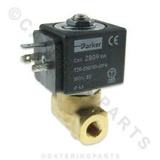 "PARKER VE-146 TWO WAY WATER SOLENOID VALVE 220-230 Volt ZB09 COIL 1/8"" THREAD"