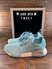 NEW-Adidas NMD R1 'Hazy Sky' Blue White [H01918] MENS Shoes *