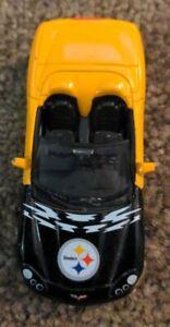 2006 UPPER DECK HOME & ROAD PITTSBURGH STEELER DIE CAST CARS Corvette