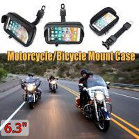 6.3'' Étanche Sac Cas Etui Moto Vélo Scooter Support Téléphone GPS Écran Tactile