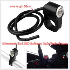 "Red LED Indicator Light Brake Button For Motorcycle 7/8 ""22mm Handlebar Mount"