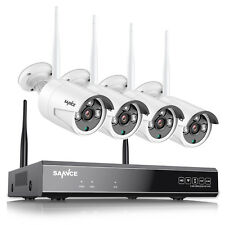 4CH HD 1080P NVR WLAN Überwachungskamera FUNK Videoüberwachung 720P IP Kamera