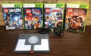 LEGO Dimensions Xbox 360 GAME & USB Portal Base Pad + 3 More LEGO Games *LooK*
