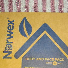 Norwex Body and Face Cloth Lavender Purple Graphite Stripe 3 Pack Microfiber