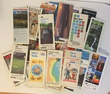 LOT Of 40 Vintage City, State Road Maps Travel, New york,Maryland +