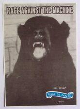 RAGE AGAINST THE MACHINE 1996 original Advert BULLS ON PARADE