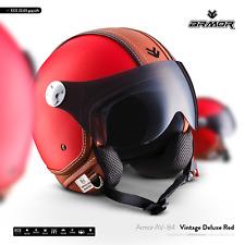 ARMOR AV-84 Vintage D.R Motorcycle Leather JET-Helmet Moto VESPA XS S M L XL XXL