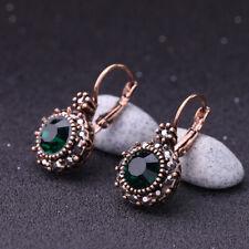 New Betsey Johnson Alloy Rhinestone crystal Green Drop earrings Fashion Jewelry