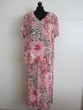 Edles 2 Teiliges CAVITA Maxi Kleid Kostüm Gr. 46 Rock Lang Bluse Zart Neu  2872