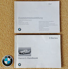 138 pag Genuine BMW 3 Series E36 36/5 Compact 1993-2000 Owners Handbook Manual
