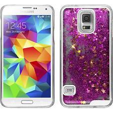 Hardcase für Samsung Galaxy S5 Hülle pink Stardust + 2 Schutzfolien