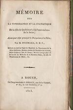 Mémoire sur la topographie, la statistique de Quillebeuf /Boismare. Periaux 1813