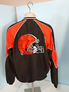 CLEVELAND BROWNS PULLOVER LINED NFL EMBROIDERED MENS SZ XL