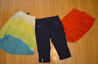 CUTE Lot of Girls Bottoms Skirts Capris Summer Clothes X-Large 16 XL Red Blue