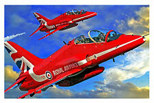 "RED ARROWS RAF STUNNING FRAMED CANVAS WALL ART PAINTING PRINT LARGE SIZE 30""X20"""