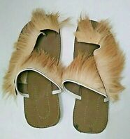 Moroccan Leather Handmade Sandals with Goat Hair  Traditional Berber Men size 8
