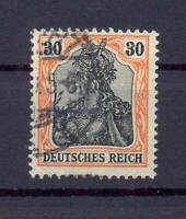 DR 89 Iy Germania 30 Pfg. auf orangeweiß gestempelt geprüft (ts290)