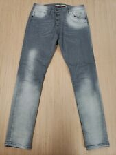 ■080 Please Jeans Womens High Rise Slim Fit Pant Sz Small Light Grey Italy