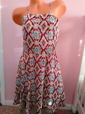 EVERLY MULTICOLORED Sun Dress Halter Back Medium S/P Sleeveless