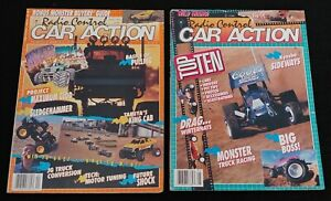 Vintage RC RADIO CONTROL CAR ACTION Magazines X2, April & May 1990, Tamiya, RC10