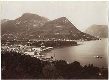 Italie Lac de Côme Lago di Como Vintage Tirage A albumine ca 1880