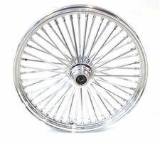 New 21 x 3.5 48 Fat King Spoke Front Wheel Chrome Rim Harley Touring Softail SD