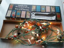 VTG DAZLITE PIFCO PIERROTS AND SNOWMEN XMAS TREE FAIRY LIGHTS 50s 60s WORKING