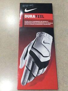Nike DuraFeel Golf Glove Left Size Reg 24 cm Men's White New Leather