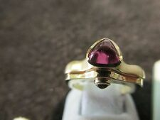 William Schraft 14k Solid Gold Pink And Geen Tourmaline Ring Brand New RLB12490