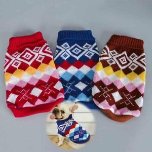 Cat Sweater Hand Knitted Pet Jumper Christmas Knitwear for Cats Cotton Hooded