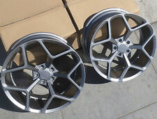 "20"" 20x10/20x11 5x120 MRR M228 Wheels For Chevy Camaro SS RS Z28 Rims Set Grey"
