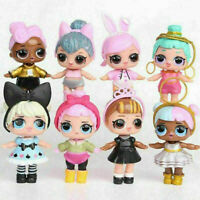 8pcs Set LOL Surprise Dolls Figures Cake Toppers Toys Gift Accessories loose