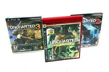 Lot of 3 PS3 Games Uncharted Drakes Fortune Drakes Deception Among Thieves