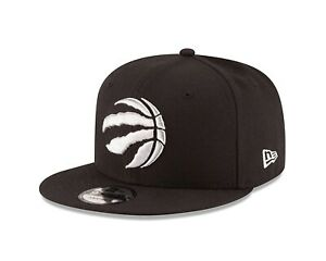Toronto Raptors New Era 9FIFTY NBA Adjustable Snapback Hat Black Cap Black 950