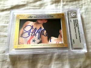Shannon Miller 2013 Leaf Masterpiece Cut Signature signed autograph card 1/1 JSA