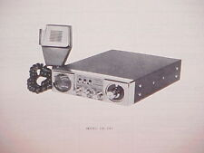 1977 REGENCY CB RADIO SERVICE SHOP MANUAL MODEL CR-240
