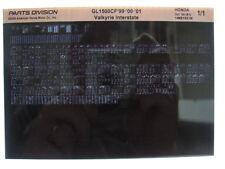 Honda GL1500 GL1500CF Valkyrie 1999 2000 2001 Parts List Catalog Microfiche a450