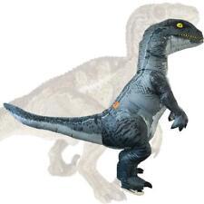 Velociraptor Inflatable Dinosaur Raptor Costume w/2 Fans for Halloween Cosplay