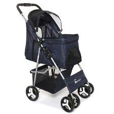 39'' Pet Stroller Cat Dog Cage 4 Wheels Walk Stroller Travel Folding Carrier Us