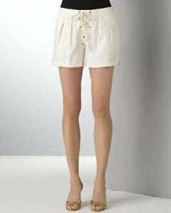 NEW DIANE VON FURSTENBERG Honey Bunch Shorts - Off White (Sizes 6, 10 & 14)