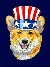 American Corgi Dog Puppy Dogs Retro Art Poster Print. 10x13.5 inches